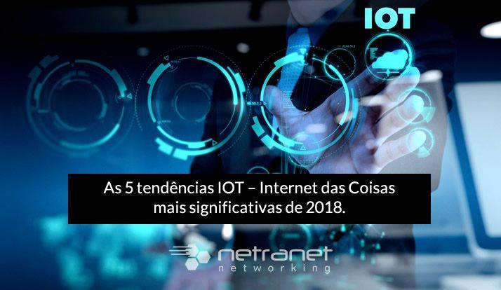 As cinco tendências IOT – Internet das Coisas mais